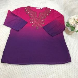 Chicos Women's Tunic Sz 2 plus